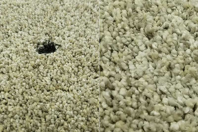 Burn mark on carpet