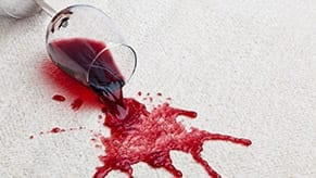 Red wine stains require professional carpet cleaning service